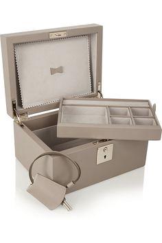 Smythson Panama textured-leather jewelry box NET-A-PORTER.COM