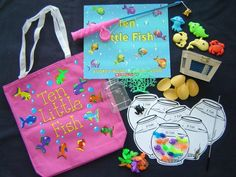 Ten Little Fish literacy bag Literacy Bags, Education And Literacy, Preschool Literacy, Classroom Activities, Kindergarten, Fish Activities, Book Activities, Initiation, Lending Library