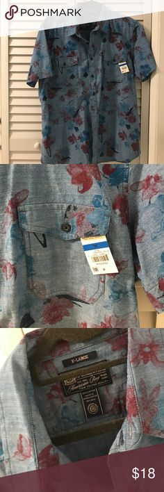 NWT American Rag Jean short sleeves Blouse Never worn with original tags American Rag Tops Blouses