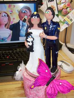 Muñecos y Figuras Personalizadas para Bodas By Mª Laura Guarnieri: Figuras Personalizadas para Policia Nacional - Figuras para tu Tarta de boda CNP