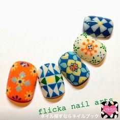 ネイル 画像 flicka nail arts  664730 秋 ソフトジェル ハンド