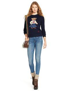 Pima Cotton Bear Sweater - Jumpers Apparel - Ralph Lauren UK
