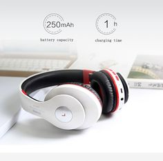 Bluetooth Headphone Wireless With MIC Sound Intone Support TF Card FM Radio Stereo Bass Headset For Computer iPhone Xiaomi Wireless Headphones With Mic, Headphone With Mic, Sports Headphones, Radios, New Gadgets, Iphone, Headset, Consumer Electronics, Bass