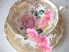 This item is unavailable Vintage Paragon pink rose tea cup set, English bone china tea set, yellow rose tea cup, gold tea cup and saucer Antique Tea Cups, Vintage Teacups, Vintage China, China Tea Sets, Bone China Tea Cups, Tea Pot Set, Teapots And Cups, Rose Tea, My Cup Of Tea