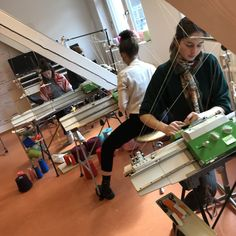 Students at work! Student At Work, Students, Desk, Knitting, Home Decor, Textile Design, Desktop, Decoration Home, Tricot