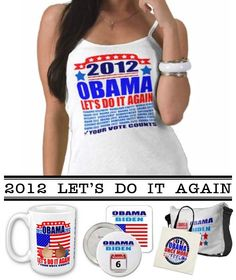 """$34.35 Custom Design by P.K. Wells, available in a variety of colors & styles. Support your President with an original custom design! """"2012 Obama"""" SayNoLess offers t-shirts, mugs, stickers, buttons, bumper stickers, mousepads, ipad cases, commemorative plates, posters, plaques, and much more to show support for President Obama. Sold through Zazzle, the leading online provider for original, made-on-demand apparel. #obama #election #reelection #politics #apparel #tshirts"""