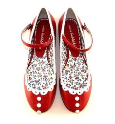 Guvon Hotels & Spas think these will be perfect for Christmas day  <3 shabby chic...red flats..