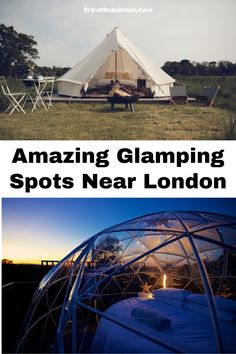 These glamping spots are some of the best in the UK and they are located conveniently near London! If you want to get back to nature with some additional luxuries, glamping may be the perfect alternative to camping! | UK Destinations | Eco Friendly Travel | Green Travel | Sustainable Travel | #travelmadmum #glamping #camping Camping Uk, Go Glamping, Romantic Vacations, Romantic Travel, Budget Travel, Travel Tips, London With Kids, Uk Destinations, England And Scotland