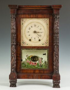Lot: Rare Mark Leavenworth Miniature Shelf Clock, Lot Number: 0655, Starting Bid: $750, Auctioneer: Cottone Auctions, Auction: Fine Art, Antique & Clock Auction, Date: September 24th, 2016 EDT