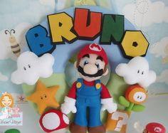 Enfeite de porta Maternidade Super Mario