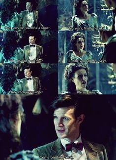 The doctor and the tardis!! I love the tardis she was amazing and she should definitely come back!