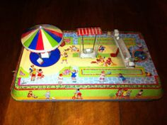 Jouet Ancien En Tole Rcp Made In France Parc Square Friction Old French Toys