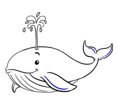 Learn to draw a cute whale. This step-by-step tutorial makes it easy. Kids and beginners alike can now draw a great looking whale. Pencil Art Drawings, Easy Drawings, Fun Team Building Activities, Whale Drawing, Cute Whales, Simple Doodles, Learn To Draw, Artsy, Sketching