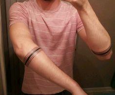 Forearm Line Tattoos for Men | Cool Man Tattoos