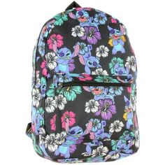 Disney Lilo and Stitch Tropical All Over Print Backpack ($30) ❤ liked on Polyvore featuring bags, backpacks, rucksack bags, stitch bag, disney, disney rucksack and backpack bags
