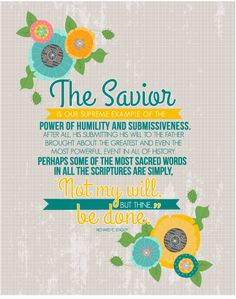 The Savior- August 2015 Visiting Teaching