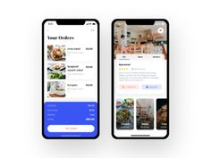 buying options and listing by Sudhan Gowtham for on Dribbble Mobile Ui Design, App Design, Screen Cards, Delivery App, Peterborough, Ui Kit, App Ui, Virtual Assistant, Eat