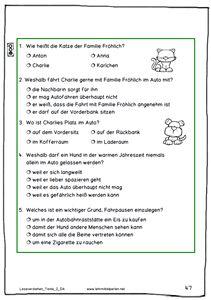 14 Lesetexte für die 2. bis 4. Klasse mit Verständnisfragen (differenziert) und mit Zusatzheften in Silbenschrift