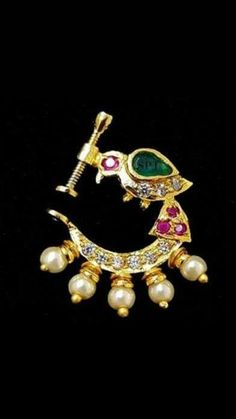 Gold Jewelry In Egypt Nose Ring Jewelry, Nose Earrings, Gold Bangles Design, Jewelry Design, Nose Ring Designs, Rajputi Jewellery, Jewelry Patterns, Necklace Designs, Indian Jewelry