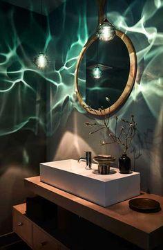 Siemon & Salazar Kronleuchter / Anhänger - Mundgeblasenes Stahlgrau Happy American Mid-Century Modern Geblasenes Glas, Nickel - Nail Effect, Modern Bathroom Decor, Bathroom Trends, Bathroom Design Small, Bathroom Ideas, Small Bathrooms, Bathroom Inspiration, Bathroom Designs, Bathroom Remodeling, Remodeling Ideas
