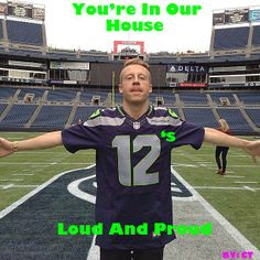 Macklemore in the House for the win to go to the superbowl the Seahawks