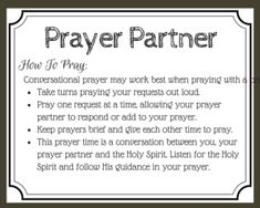 printable prayer card for praying with a prayer partner.