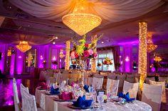 beautiful bright wedding centerpiece