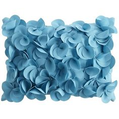 Petals Pillow - Turquoise; also in several other colors (green, terracotta, yellow)