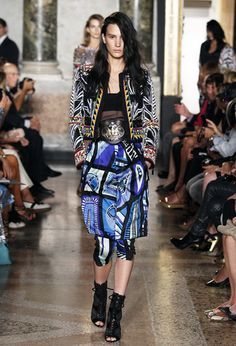 Emilio Pucci Spring/Summer 2014 | #pucci #pattern #color | Posted By Senay GOKCEN, Editor-in-Chief | Fashion Trendsetter http://www.fashiontrendsetter.com/content/collections/2014/Emilio-Pucci-Spring-Summer-2014.html