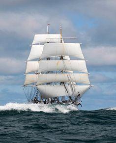 "Beautiful shot of the Norvegian barque ""Statsraad Lehmkuhl"""