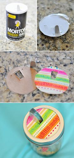 Add a Salt Spout for Easy Pouring Capabilities | 41 Easy Things To Do With Mason Jars