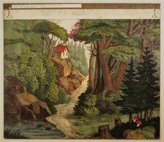 Wald. - Hintergrund. Nr. 10 (Alte Ausgabe). / Garten - Hintergrund Nr. 4 (Alte Ausgabe)