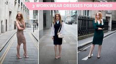 3 Workwear Dresses F