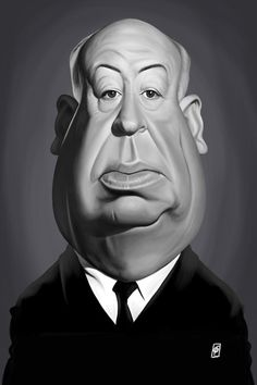 Alfred Hitchcock Canvas Print by Rob Snow Canvas Wall Art Alfred Hitchcock, Funny Caricatures, Celebrity Caricatures, Wall Canvas, Canvas Prints, Art Prints, Canvas Size, Wall Art, Canvas Art