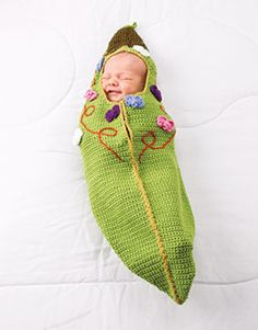 free pattern for crocheted Sweet Pea Baby Cocoon via Craft Passions by Sheila Haines