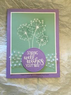 JackOtterStamp: Dandelion Well Wishes with Tulle