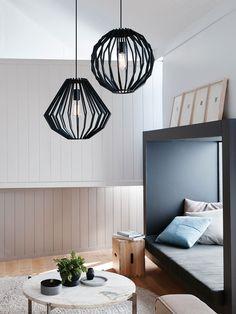 Walderik Large Squat Pendant in Black | Modern Pendants | Pendant Lights | Lighting