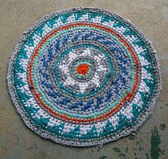 Wagon Wheel Fair Isle Rag Rug By Bravehandtextiles On Etsy 59 00