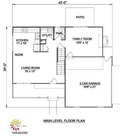 First Floor Plan of Country   House Plan 94318
