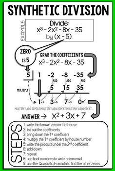 √ Dividing Polynomials Using Synthetic Division Worksheet Answers . 4 Dividing Polynomials Using Synthetic Division Worksheet Answers. Dividing Polynomials Using Synthetic Division Worksheet Maths Algebra, Math Tutor, Math Teacher, Math Classroom, Teaching Math, Flipped Classroom, Fun Math, Math Activities, Math Math
