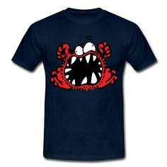 Angry Little Cartoon Monster by Cheerful Madness!! T-Shirt | Spreadshirt | ID: 26380730 #angry #tshirts #monster #cartoon #funny #cheerfulmadness #spreadshirt #UK gifts #christmas