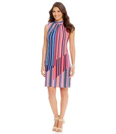 trapeze stripe dress / everyday dress/ perfect summer dress/ fabulous at every age/ work wear style/ office chic