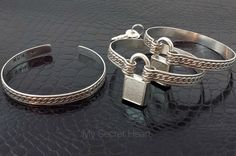 DONOVAN Locking submissive HAND CUFFS by MySecretHeartJewelry
