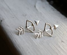 bow + arrow earrings