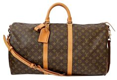 Louis Vuitton Keepall 55 Strap Monogram Travel Bag. Save 59% on the Louis…