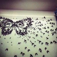 бумажные бабочки на стене своими руками фото 10