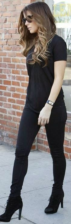 Casual black for Kate Beckinsale