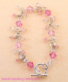 Crystal bead bracelets, great bead bracelet ideas, learn how to make a Swarovski crystal beaded bracelet.