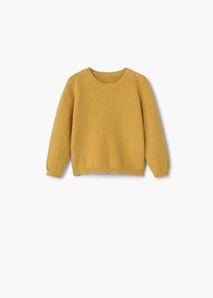 Getextureerde katoenen trui | MANGO KIDS