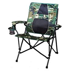awesome STRONGBACK Elite Folding Camping Chair with Lumbar Support, Camo, Camouflage